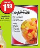 Compliments Fruit 398 mL