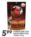 Purina One True Instinct Bites Dog Treats