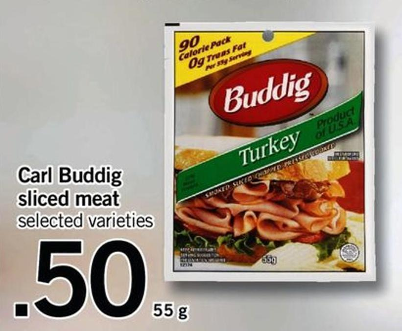 Carl Buddig Sliced Meat - 55 g