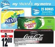 Coca-cola Or Canada Dry Soft Drinks Or Nestea Iced Tea