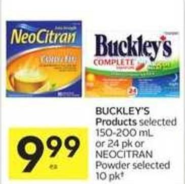 Buckley's Products