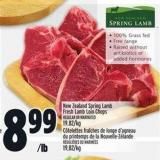 New Zealand Spring Lamb Fresh Lamb Loin Chops
