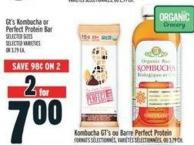 Gt's Kombucha Or Perfect Protein Bar