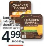 Barrel Natural Cheese Slices - 200-240 g