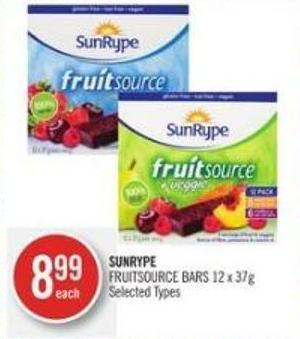 Sunrype Fruitsource Bars