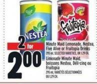 Minute Maid Lemonade - Nestea - Five Alive Or Fruitopia Drinks | Limonade Minute Maid - Boissons Nestea - Déli‑cinq Ou Fruitopia