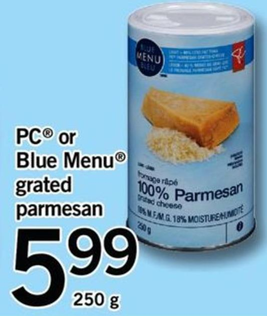 PC Or Blue Menu Grated Parmesan.