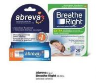 Abreva - 2 G Or Breathe Right - 26-30's