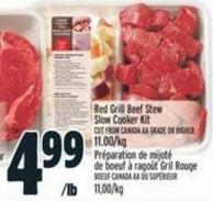 Red Grill Beef Stew Slow Cooker Kit