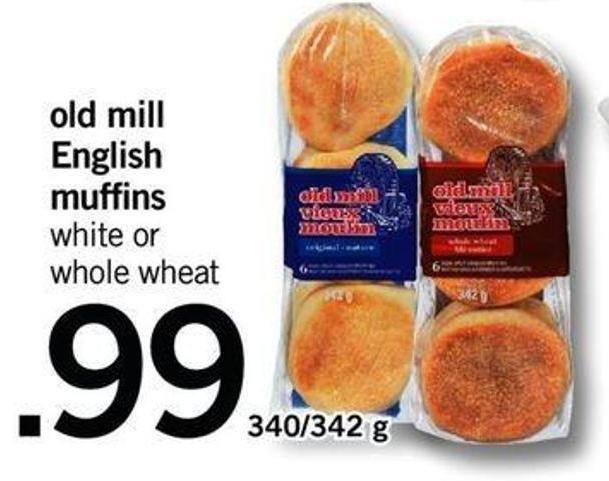Old Mill English Muffins - 340/342 G