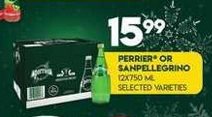 Perrier Or Sanpellegrino - 12x750 Ml