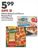Delissio Rising Crust Pizza or  Pizzeria Pizza  530-888g Pkg
