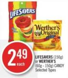 Lifesavers (150g) or Werther's (60g - 150g) Candy