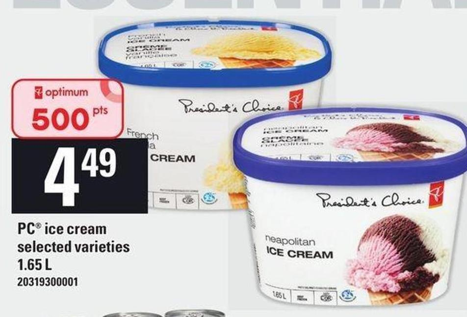 PC Ice Cream - 1.65 L