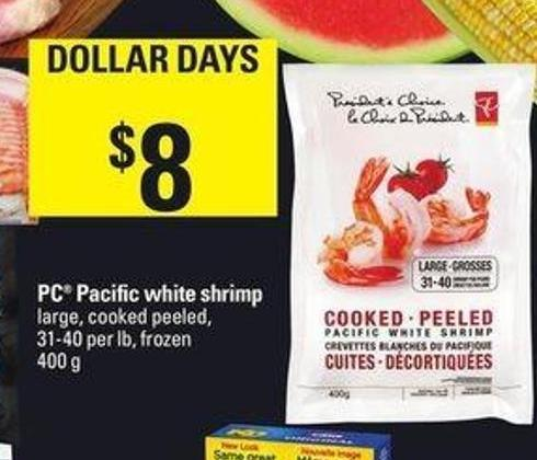 PC Pacific White Shrimp - 400 G - 31-40 Per Lb