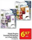 Glade Pluglns Scented Oil Warmer or 2-pack Refills