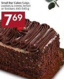 Small Bar Cakes Fudge - Cookies & Crème - Lemon or Snickers 445-540 g
