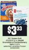 PC Frozen Fruit - 400/600 G Or Nestlé Drumstick Or Confectionery Bars - 4-10's