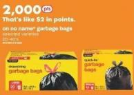 No Name Garbage Bags - 20-40's