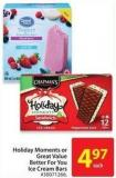 Holiday Moments or Great Value Better For You Ice Cream Bars