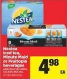 Nestea Iced Tea - Minute Maid Or Fruitopia Beverages - 12x341/355 mL
