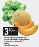 Brussels Sprouts Or Morocco Or Cantaloupes