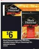 Black Diamond Cheese Bars - 400/450 G - Shredded Cheese - 340 G Or Cheestrings - 16's