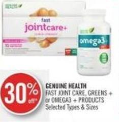Genuine Health Fast Joint Care - Greens + or Omega3 + Products