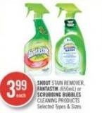 Shout Stain Remover - Fantastik (650ml) or Scrubbing Bubbles Cleaning Products