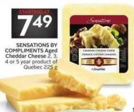 Sensations By Compliments Aged Cheddar Cheese