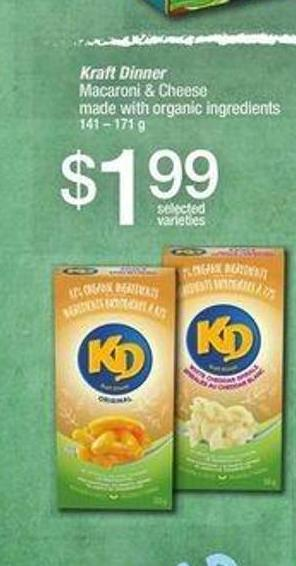 Kraft Dinner Macaroni & Cheese - 141 – 171 G