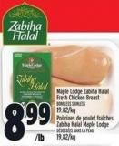 Maple Lodge Zabiha Halal Fresh Chicken Breast Boneless Skinless