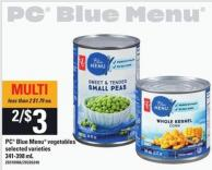 PC Blue Menu Vegetables - 341-398 mL
