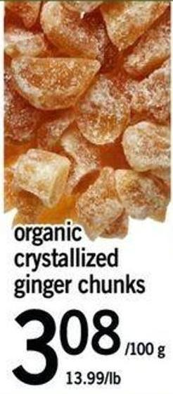 Organic Crystallized Ginger Chunks