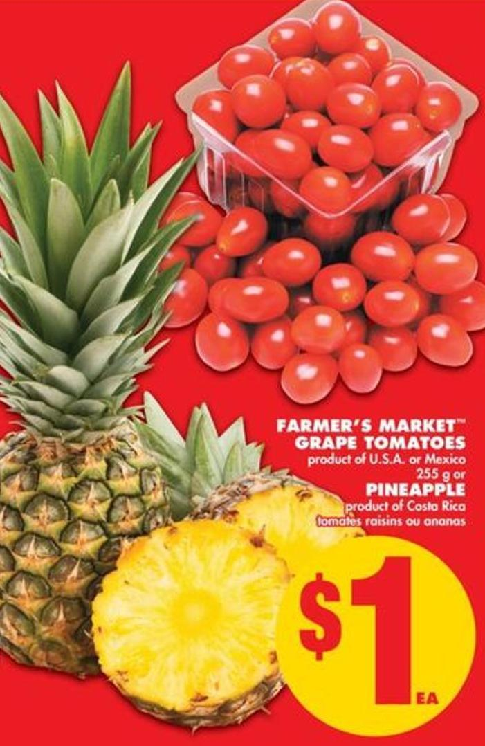 Farmer's Market Grape Tomatoes - 255 g Or Pineapple