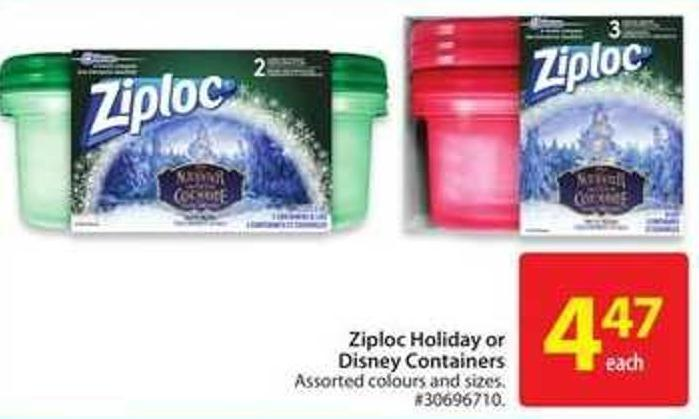 Ziploc Holiday or Disney Containers