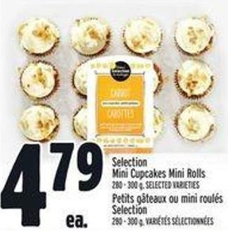 Selection Mini Cupcakes Mini Rolls