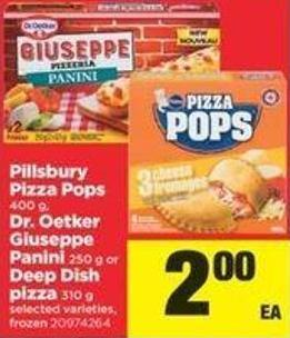 Pillsbury Pizza Pops - Dr. Oetker Giuseppe Panini - Or Deep Dish Pizza