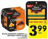 Black Diamond Combos Or Natural Cheese Slices
