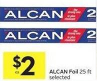 Alcan Foil 25 Ft Selected