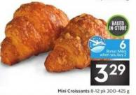 Mini Croissants - 6 Air Miles Bonus Miles