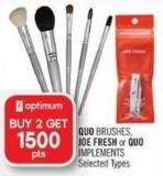 Quo Brushes - Joe Fresh or Quo Implements
