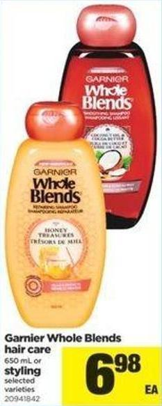 Garnier Whole Blends Hair Care - 650 Ml Or Styling
