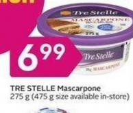 Tre Stelle Mascarpone 275 g (475 g Size Available In-store)