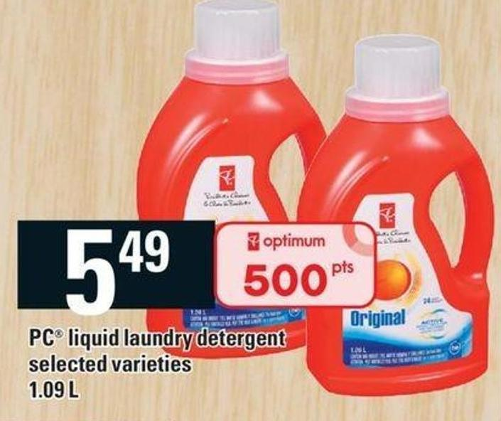 PC Liquid Laundry Detergent - 1.09