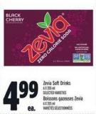 Zevia Soft Drinks 6 X 355 ml