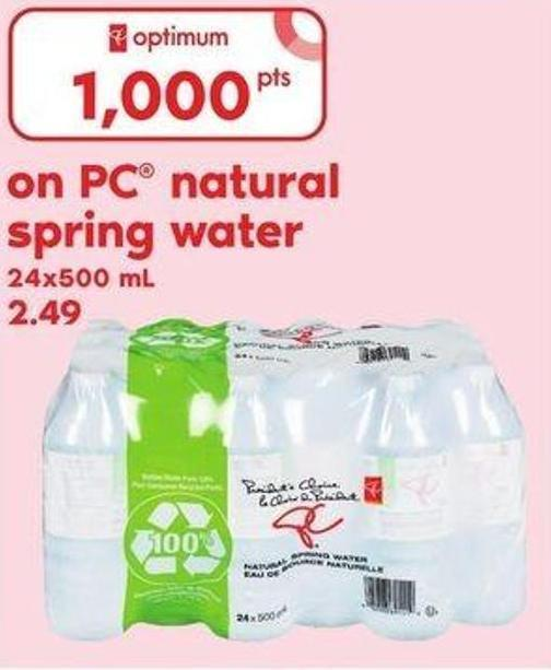 PC Natural Spring Water.