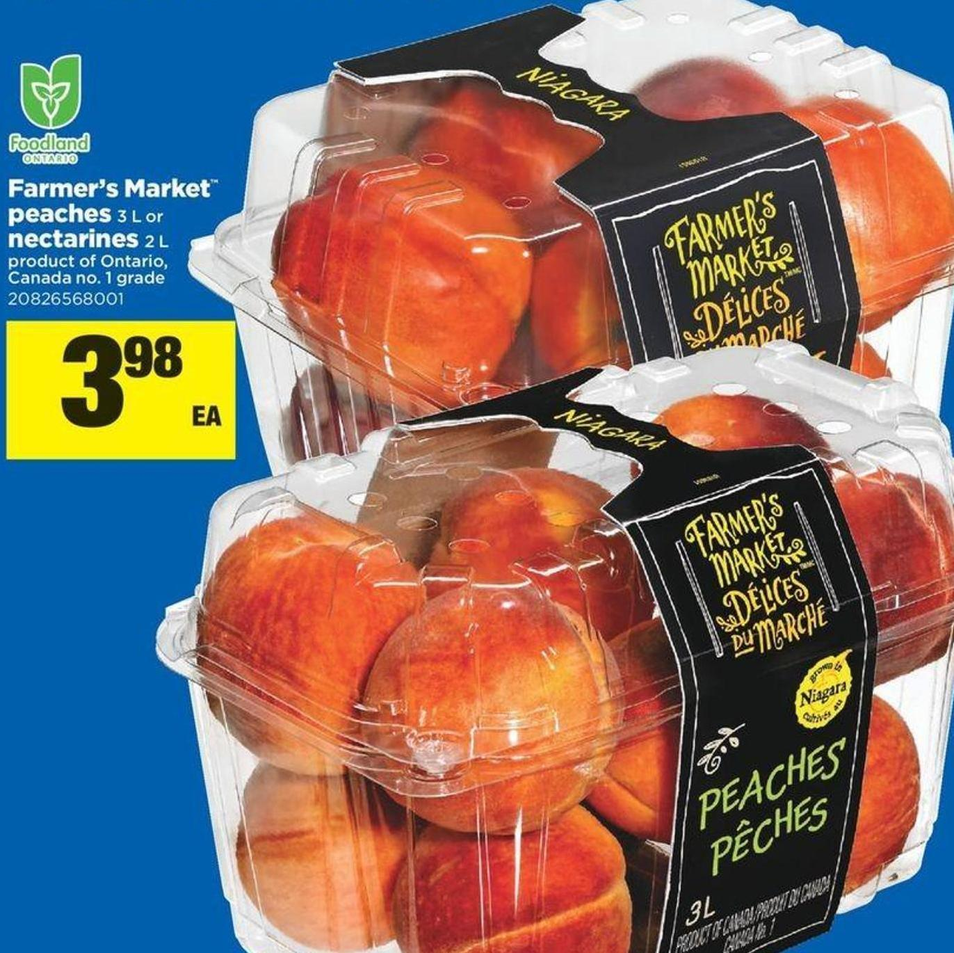 Farmer's Market Peaches - 3 L Or Nectarines - 2 L