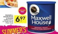 Maxwell House Roast & Ground Coffee 925 g or Single Serve Pods 12 Pk