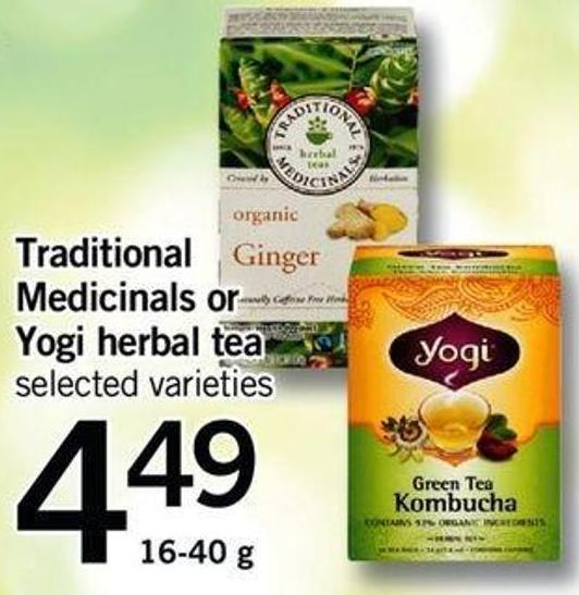 Traditional Medicinals Or Yogi Herbal Tea - 16-40 G